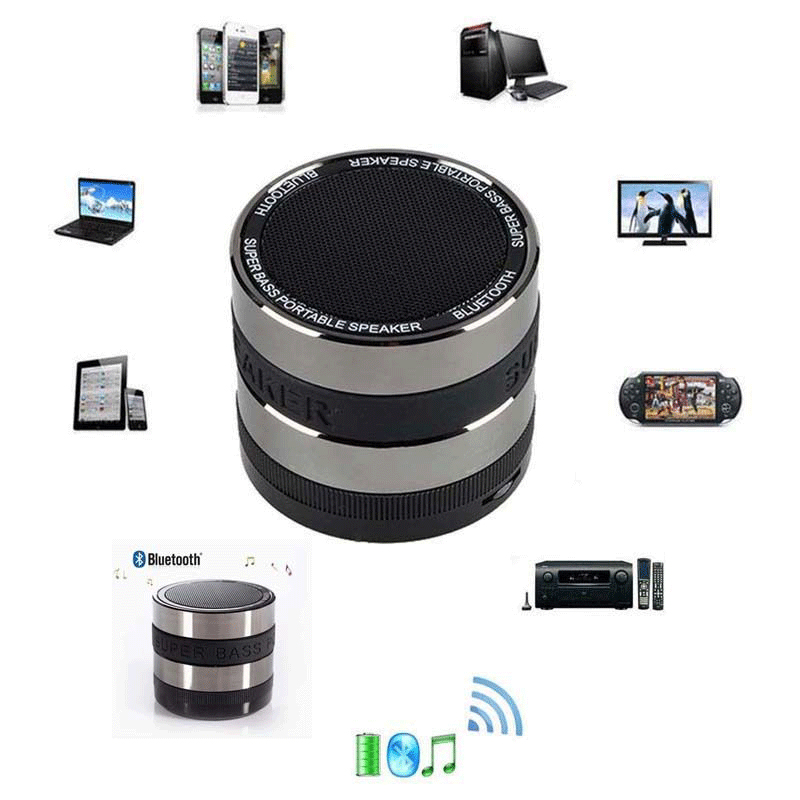Mini Bluetooth Wireless Speaker Stereo Bass Portable For Smartphone Tablet PC