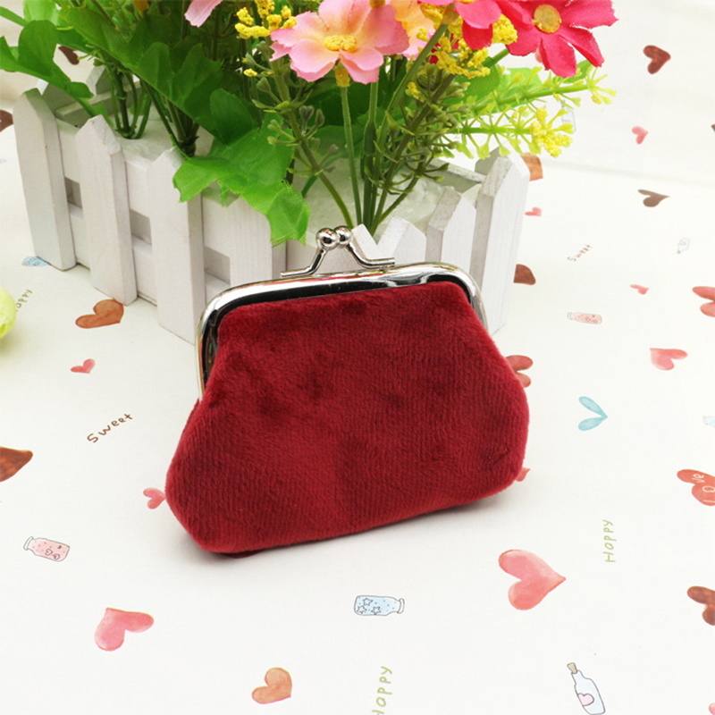 Women Vintage Pouch Florals Dots Printed Wallet Coins Holder Case Pocket Mini Purse Girl Gift