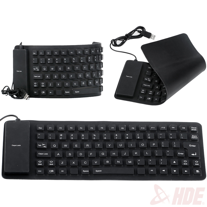 Portable Flexible Waterproof USB 2.0 Silicone Keyboard for PC Laptop Notebook