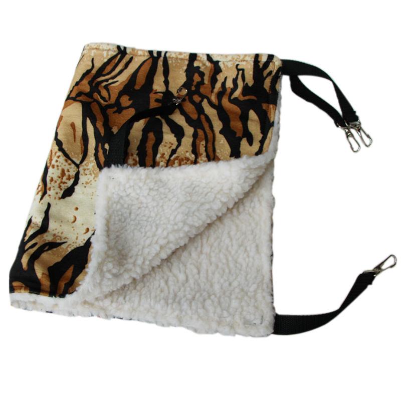 Trendy Pet Cat Hammock Leopard Fur Bed Animal Hanging Dog Cage Comforter Ferret