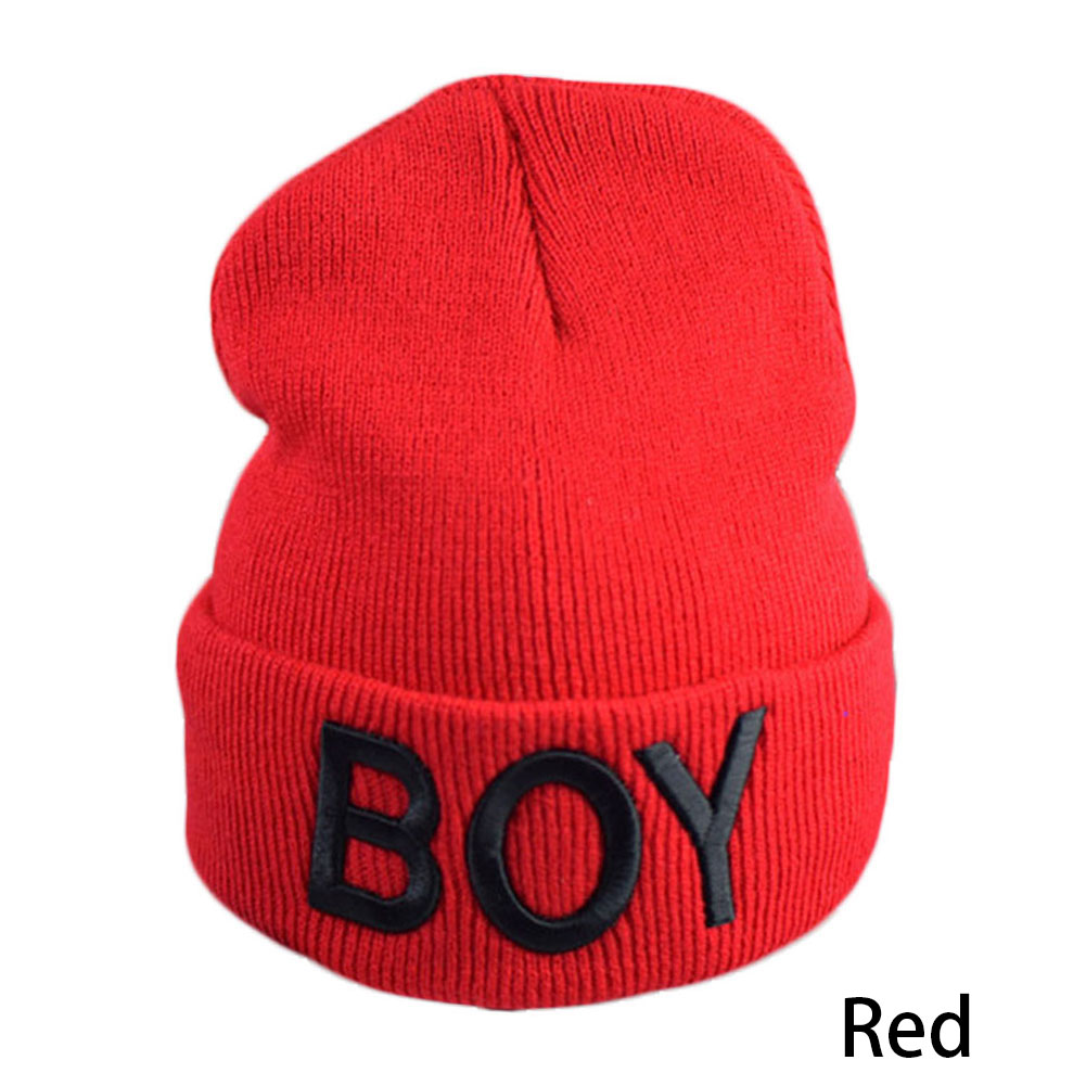 Fashion Baby Boy Girl Hats Boy Letter Beanie Cap Ski Hats Knitted Woolen Skull Hats Caps Accessories