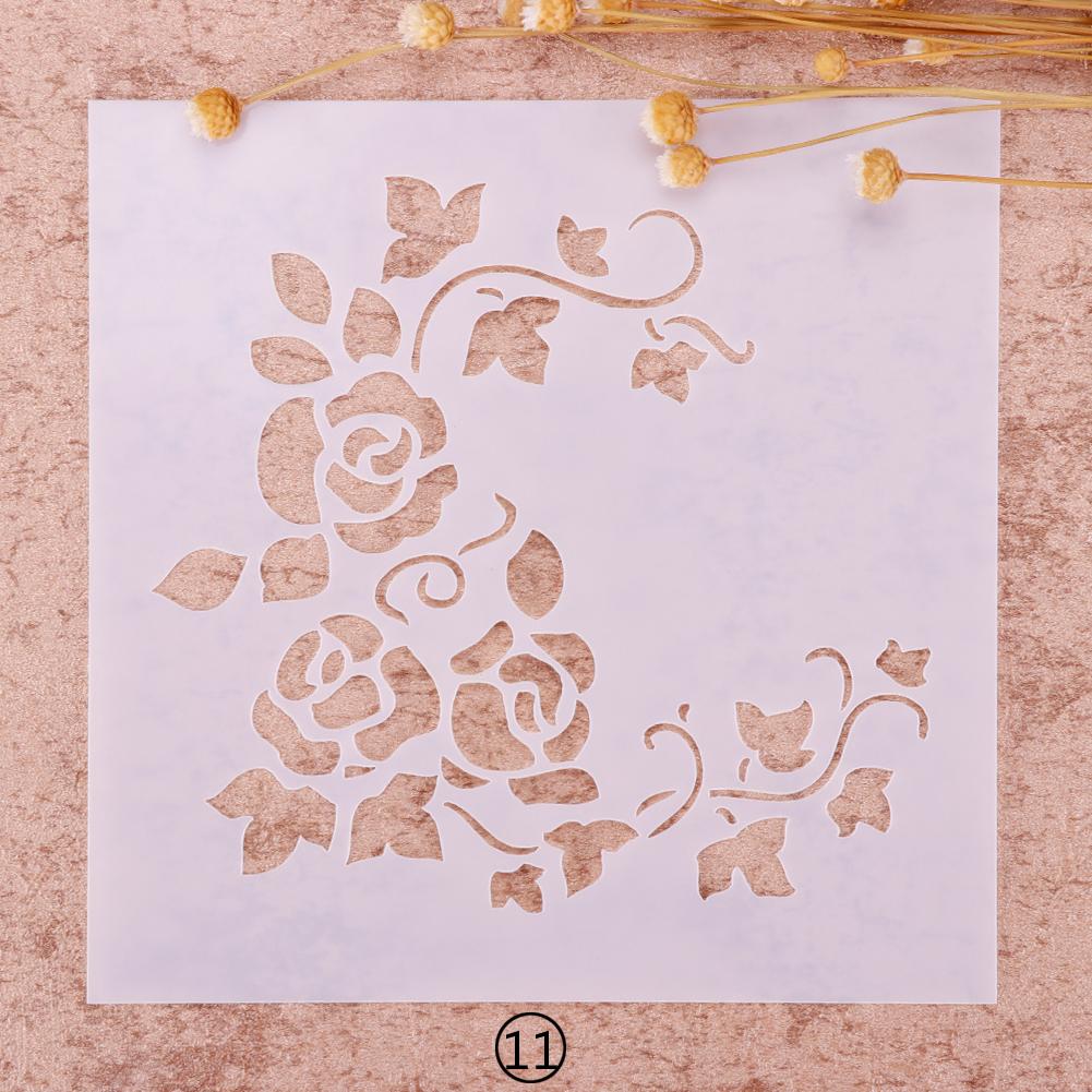 Christmas Drawing Airbrush Painting Stencil Kids Chrildren Gift DIY Craft Album Decor