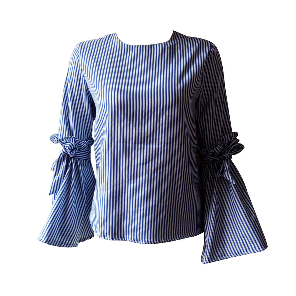2017 New Fashion Womens Tops T Shirt Long Sleeve Shirt Casual Blouse Loose Cotton Summer