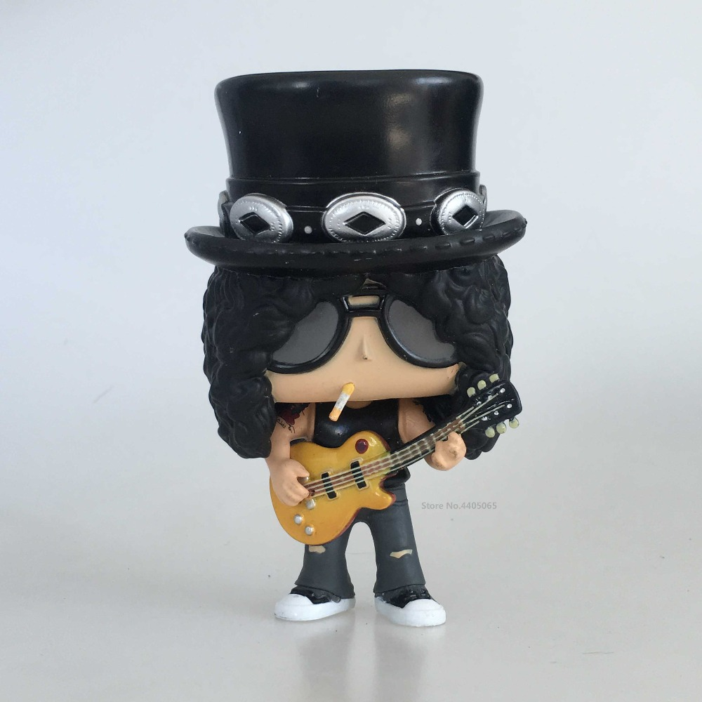 Original Secondhand imperfect Funko pop Guns N Roses Rocks: Slash Vinyl Action Figure Collectible Model Loose Toy Cheap No Box