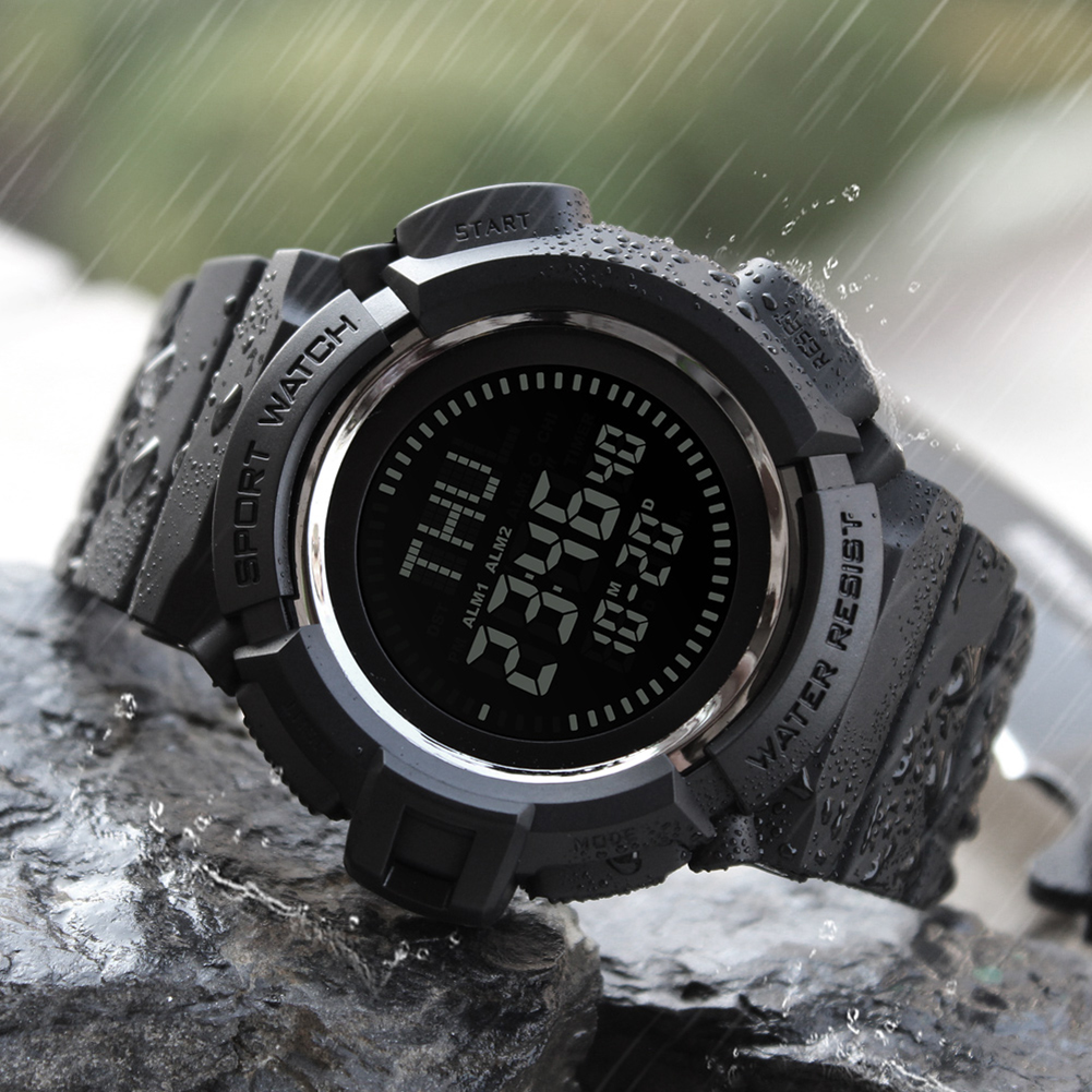 New Fashion Outdoor Compass Watch Mens Sport Analog Digital Waterproof Military Wristwatches