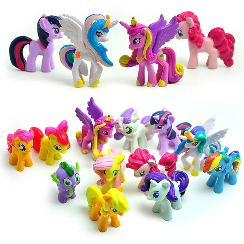 12pcs Little Pony Friendship Magic Action Figure Rainbow Set Kid Toy