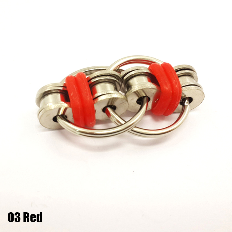 Key Ring Interlocking Chain Links Hand Finger Spinner Fidget Stress Toy