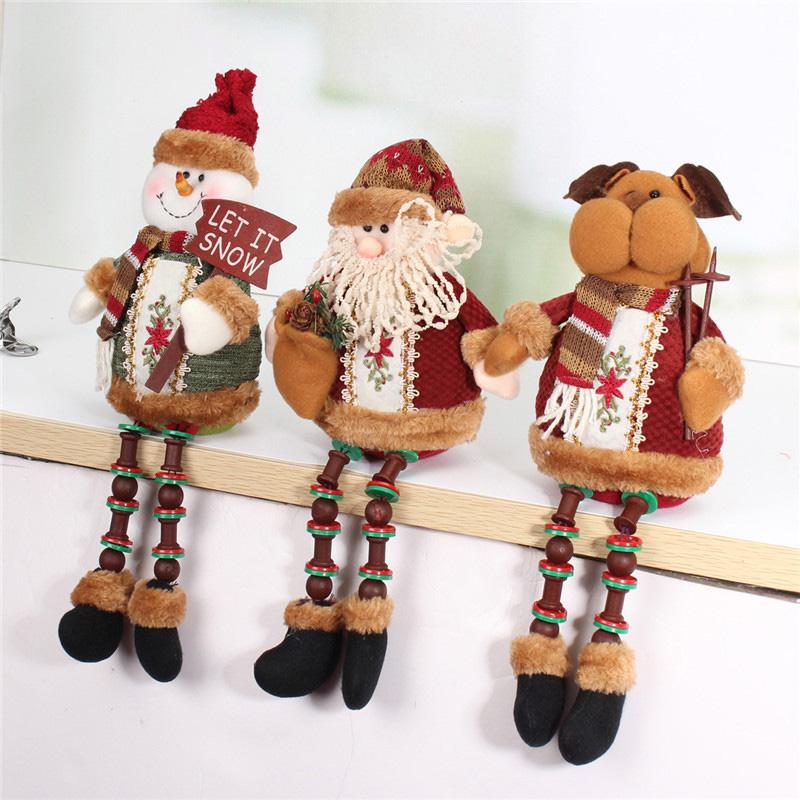 Santa Claus Snow Man Reindeer Doll Christmas Decoration Xmas Tree Hanging Ornaments Gift