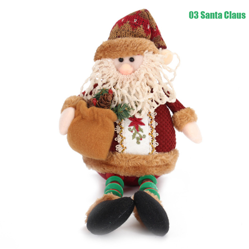 Santa Claus Snow Man Reindeer Doll Christmas Decoration Xmas Tree Hanging Ornaments Gift