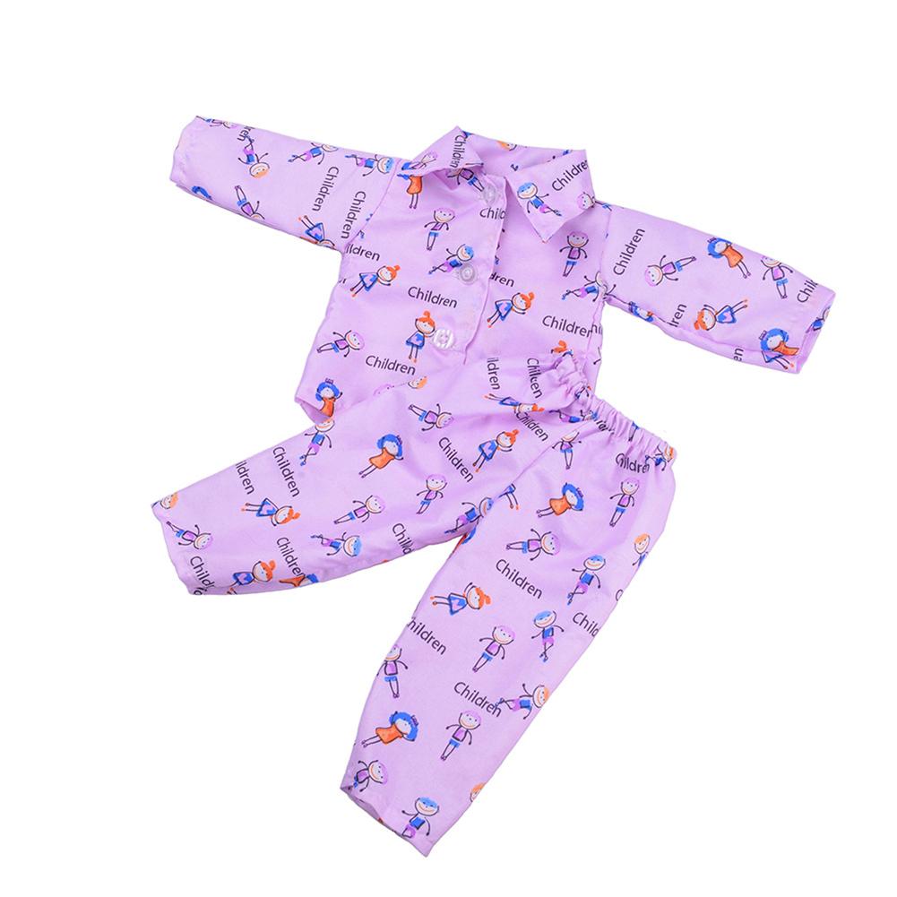 Cute Handmade Doll Clothes Sleepwear Set for 18 inch American Girl Doll Random