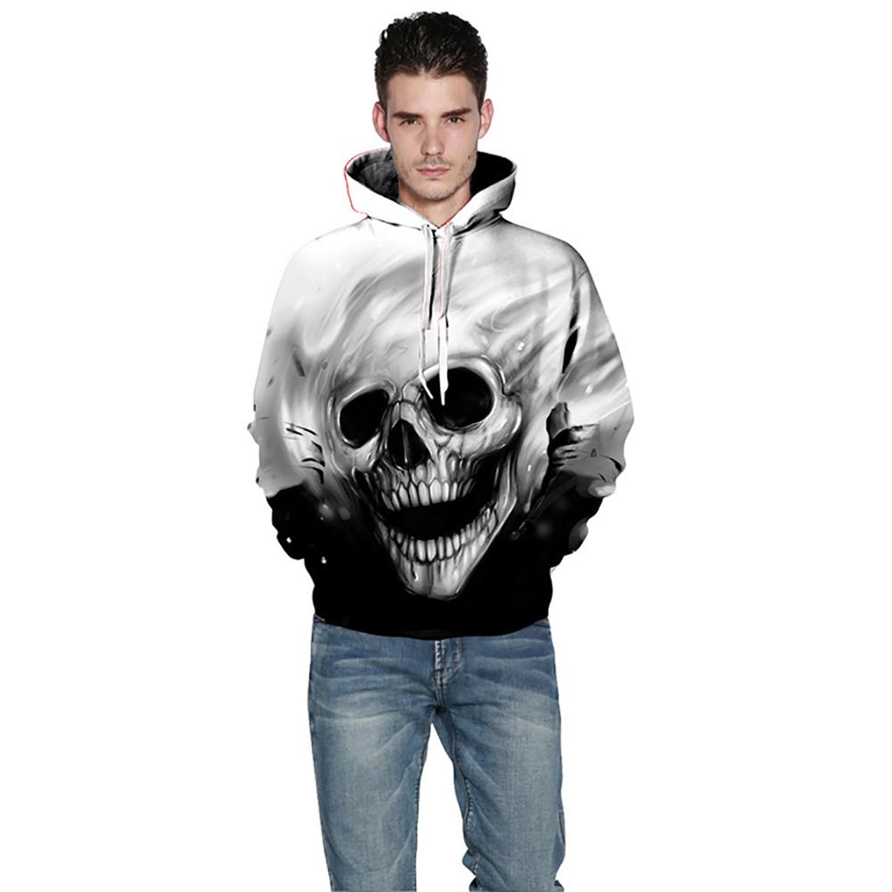 Fashion 3D Men Women Hooded Sweatshirts Melted Skull Print Casual Streetwear Hoodies