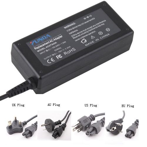 YUNDA 19V 3.42A 65W 5.5*1.7mm AC Power Adapter for Laptop Toshiba NB100 A80