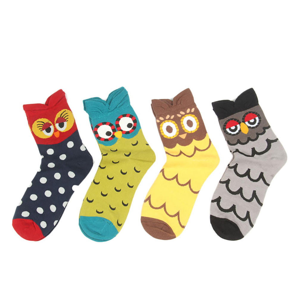 4 Pairs Womens Cute Famous Painting Art Crew Socks Funny and Cool Cotton Socks for Women