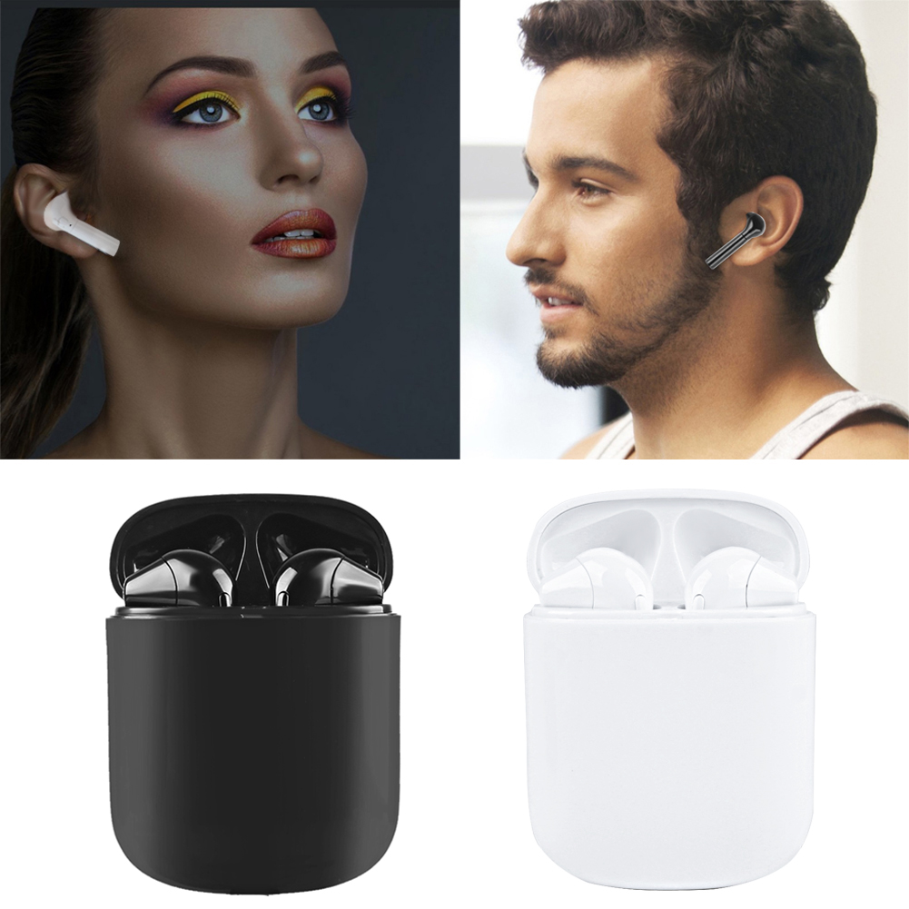 HBQ i8 TWS Wireless Earbuds Mini Bluetooth Stereo Headset With Charge Box Earphone For iPhone X 7 Plus Android Phones