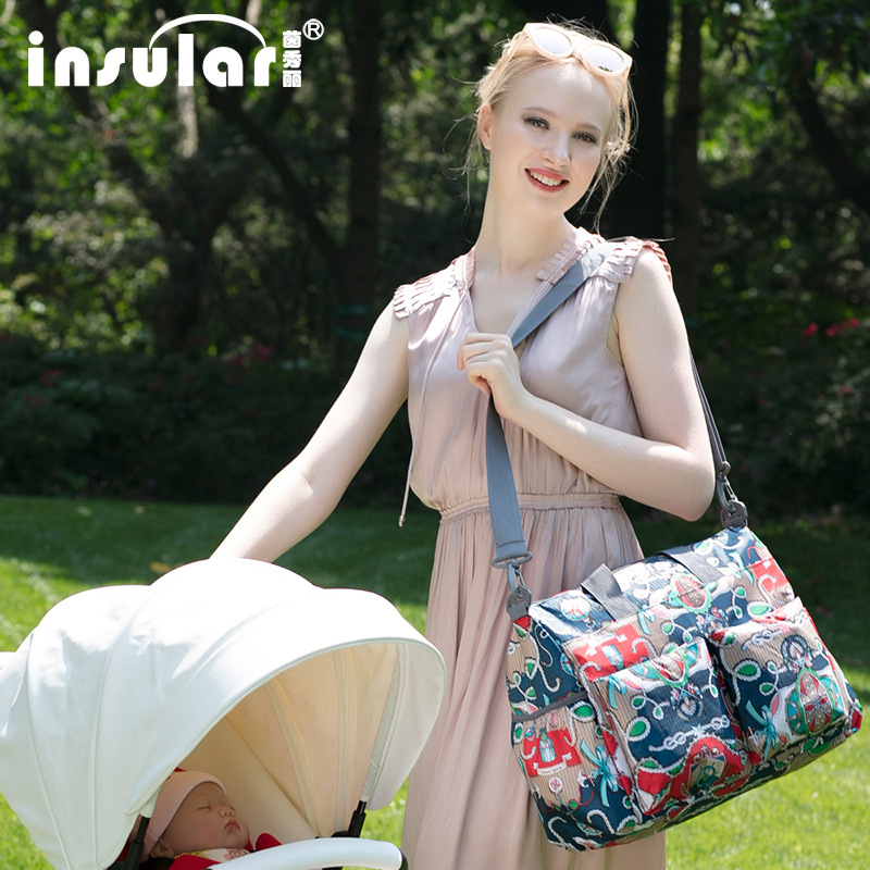 Multifunctional Waterproof Nappy Bag Baby Diaper Changing Mommy Bag