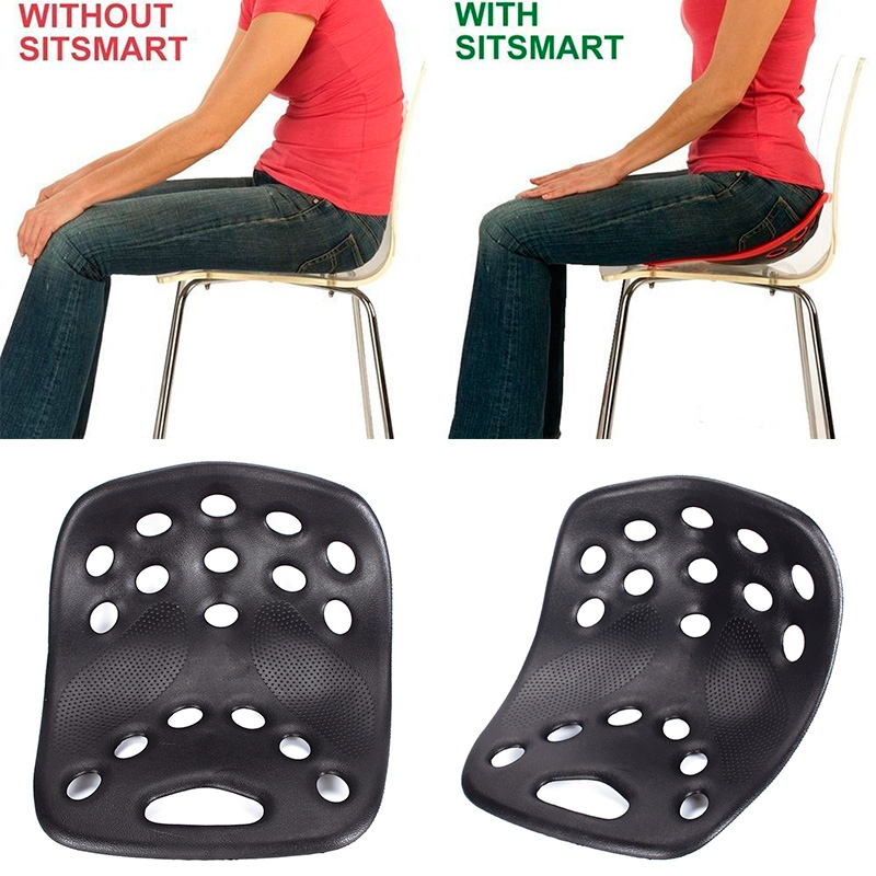 BackJoy NEW SitSmart Posture Plus Back Sitting Pain Relief Lumbar Support Black Color Gift