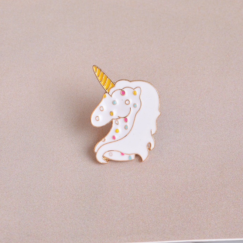 1Pc Creative Cute Cartoons Colorful Sheep Animal Badge Corsage Collar Metal Brooch Pins Jewelry