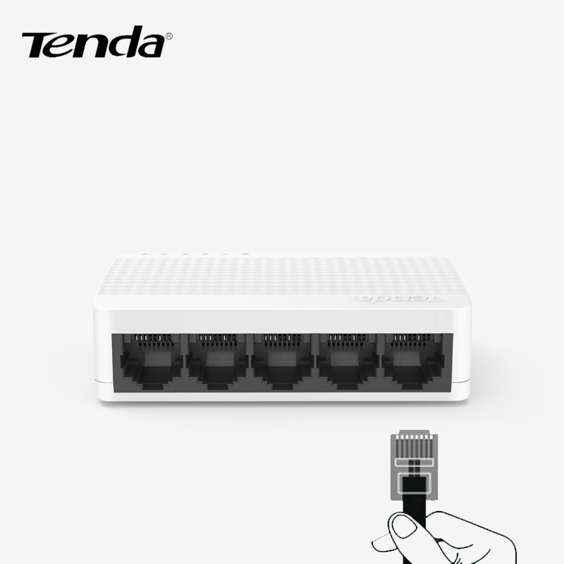 Tenda S105 5-Port Fast Ethernet Switch 10/100Mbps Unmanaged Desktop Switch