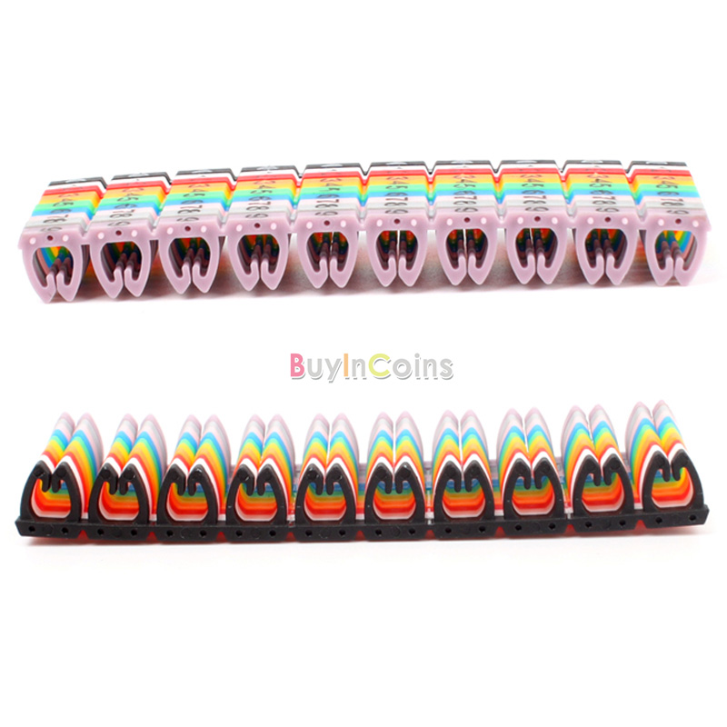 RJ45/11/12 Color Numeric Cable Label Mark 02 100pcs