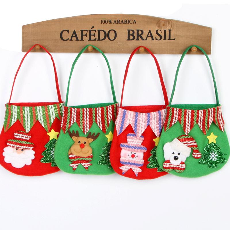 Christmas Candy Storage Bag Santa Claus Snowman Bear Elk Xmas Home Decoration