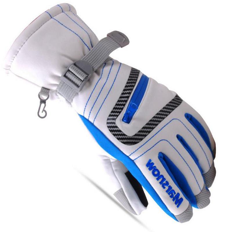 Children Winter Warm Sports Windproof Waterproof Ski Gloves Motorcycle Snowboard All Fingers