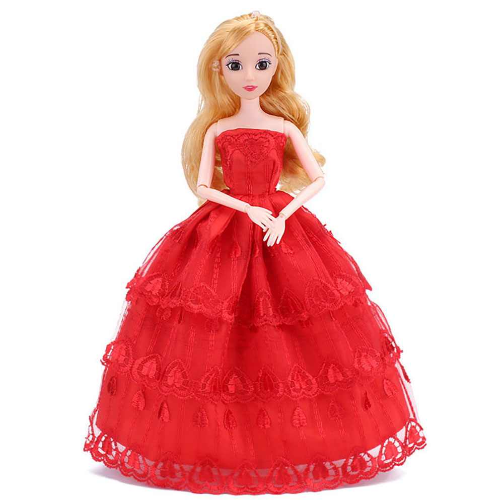 Fashion Handmade Dolls Clothes Wedding Gown Party Dresses For Barbie Dolls Multi-sytles
