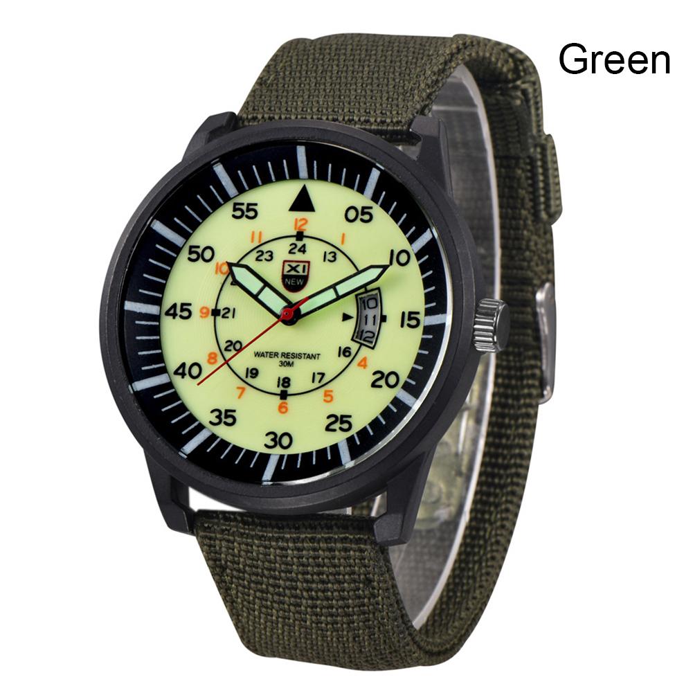 Luxury Mens Stainless Steel Watch Luminous Dial Date Military Quartz Analog Sport Wrist Watch