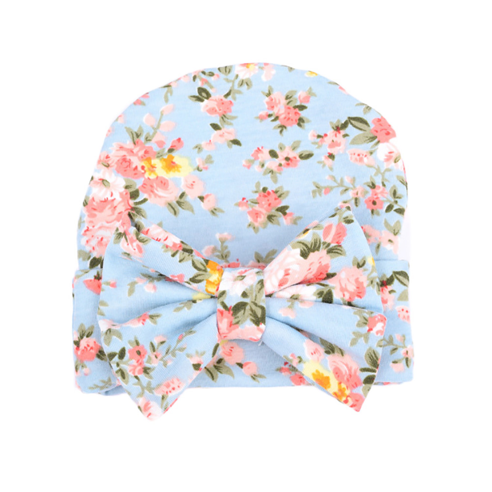 Newborn baby hat Girls Flower Bowknot Beanies Hats Comfortably Hospital Caps