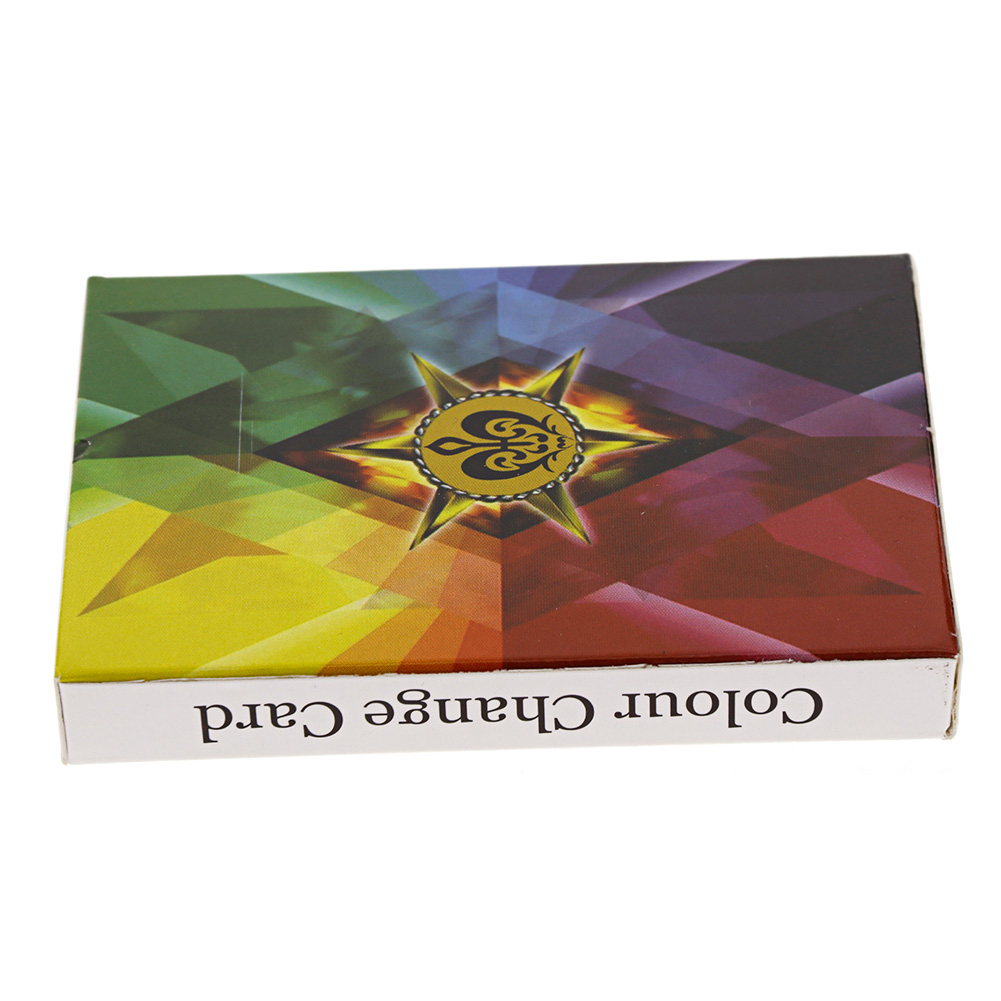 Colorful Rainbow Magic Playing Card Trick Deck Playing Soft Card Toys
