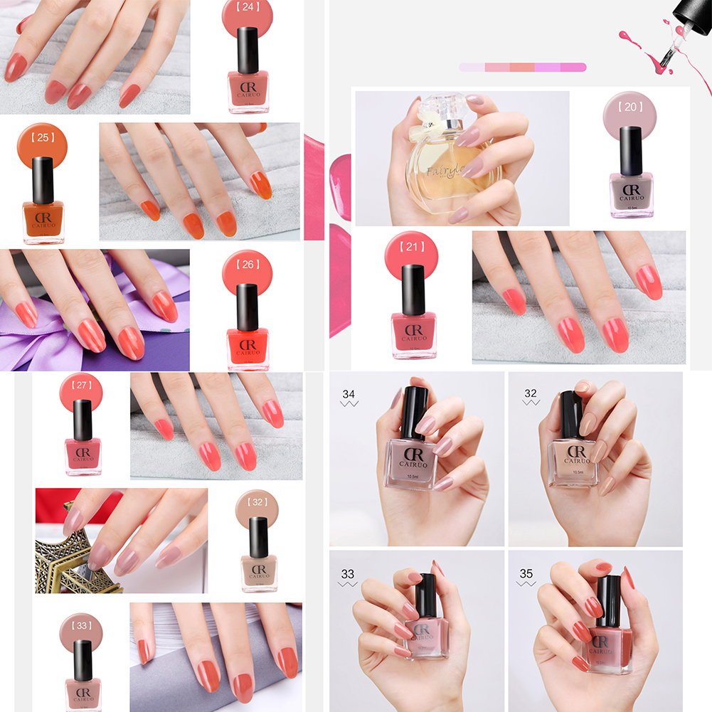 10.5ml Makeup Nail Care Salon Semi Permanent Peel Off Liquid Gel Nail Art Decoration Fluorescent Neon Nail Polish