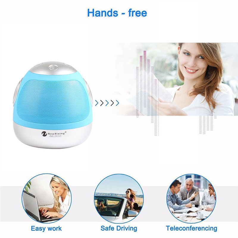 NR-2012 Wireless Bluetooth Boombox Speaker Robot Model for Party PC Pad Tablets Smartphones