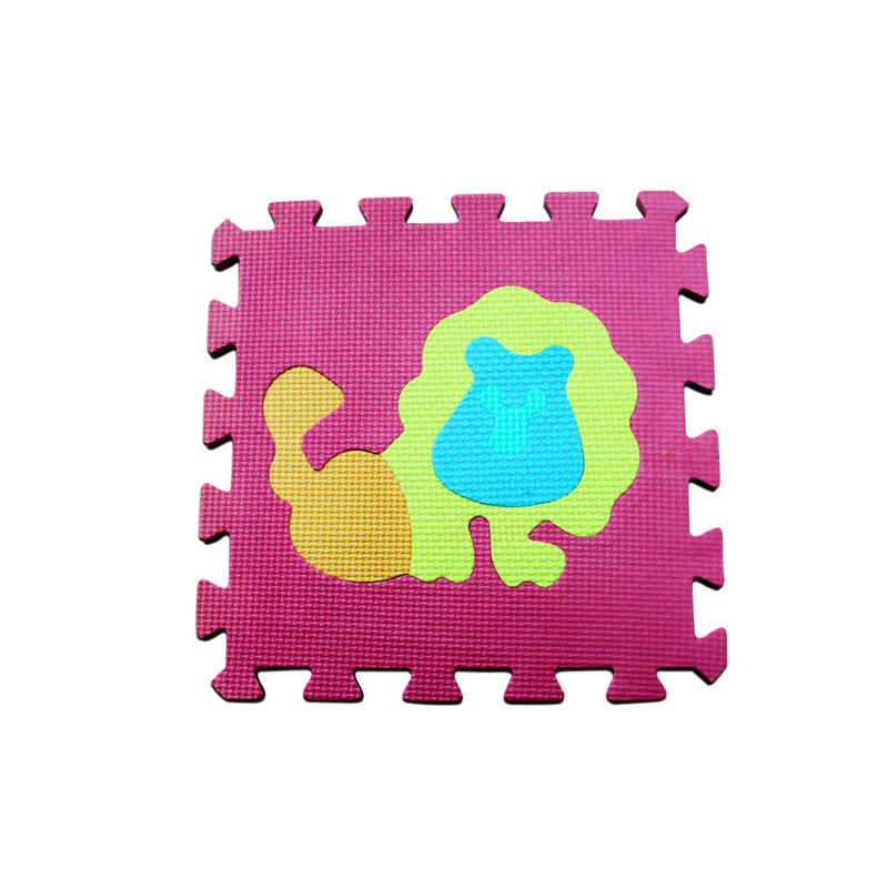 10pcs Baby DIY Soft EVA Foam Play Mat Cartoon Animal Fruits Numbers Puzzle Toy