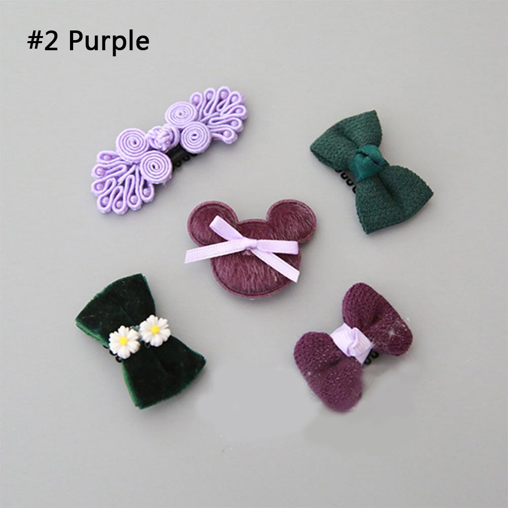 5Pcs Hairpin Baby Girl Hair Clip Bow Flower Mini Barrettes Set Kids Infant