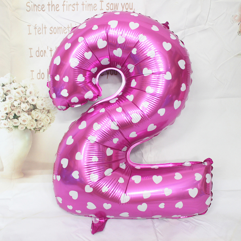 32 Inch Number Foil Balloons Wedding Birthday Party Decoration Balloons