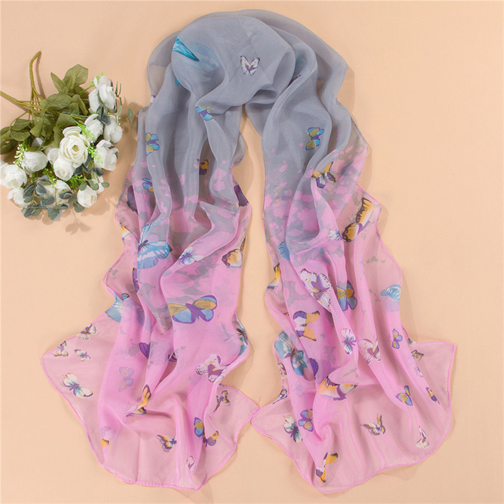 Elegant Women Long Print Cotton Scarf Wrap Ladies Shawl Large Silk Scarves