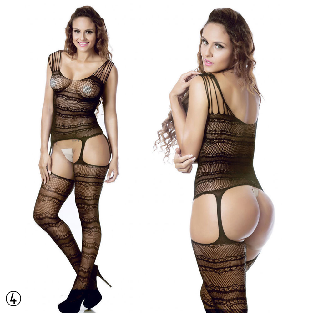 Black Sexy Lingerie Sleepwear Lace Women's G string Dress Underwear Nightwear