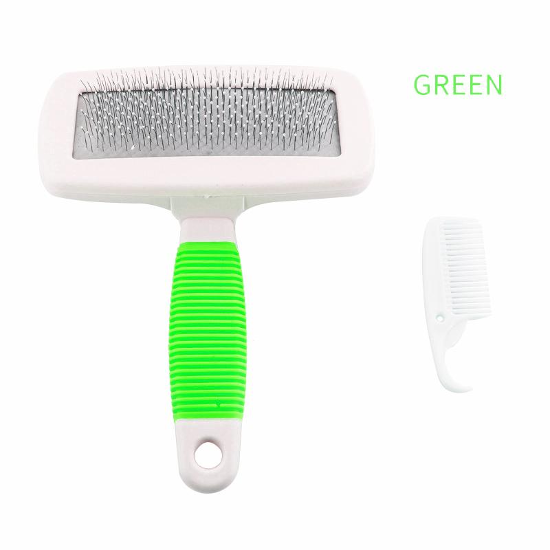 Handle Shedding Pet Dog Cat Hair Brush Pin Fur Grooming Trimmer Comb Tool
