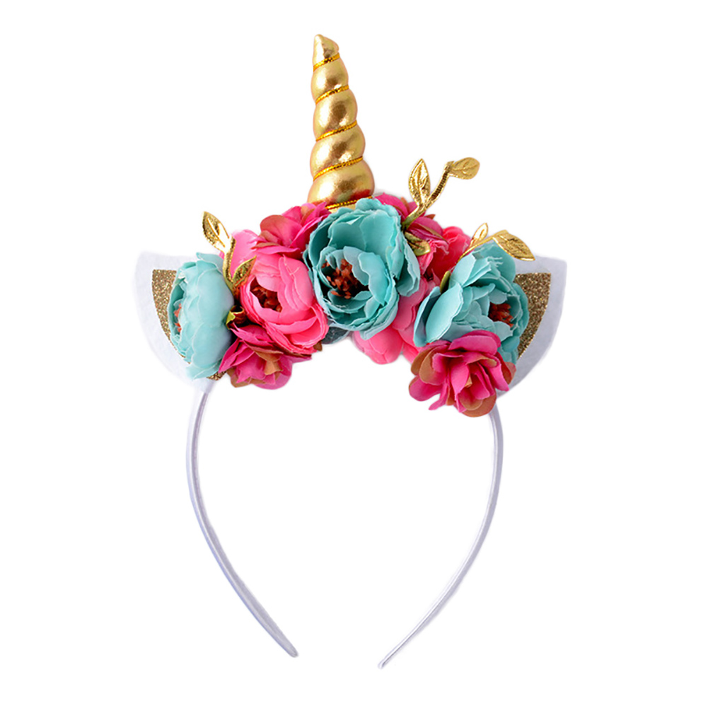 Unicorn Headband Unicorn Birthday Rose Flower Headband Unicorn Party Halloween Animal Ears Headwear
