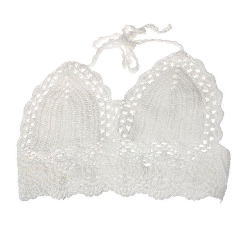 Women Unpadded Bralette Bralet Bra Bustier Crop Tops Crochet Tank