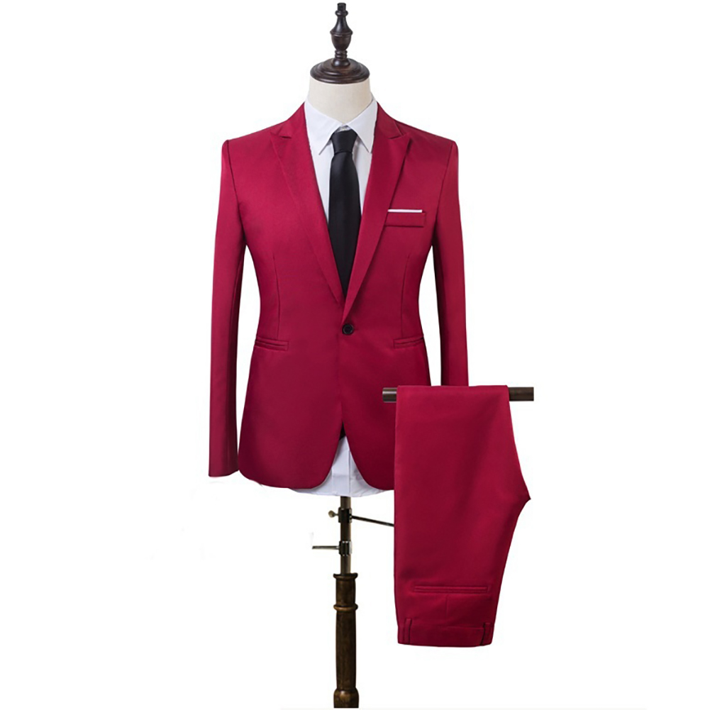High-quality Business And Leisure Suits Men's Wedding Suit 8 Colors Two Pieces Jacket + Pants