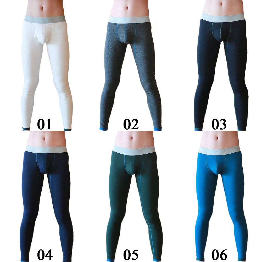 Men's Slim Warm Pants Long Johns Plus Thick Thermal Underwear