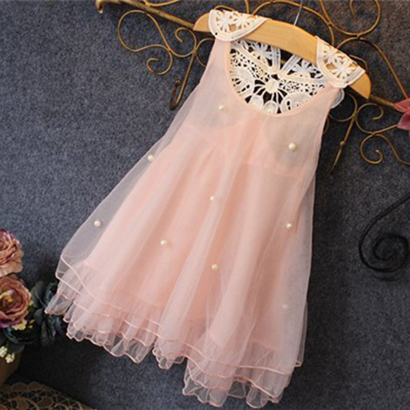 Girls Princess Dress Kids Baby Party Pageant Lace Tulle Tutu Dresses Flower