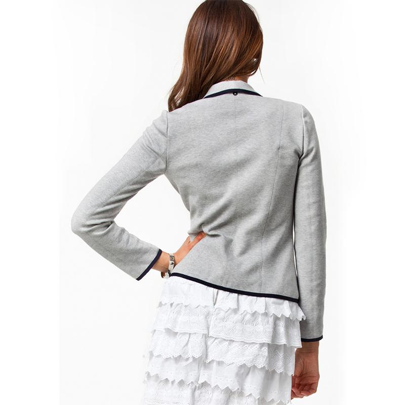 Women Long Sleeve Button Casual Blazer Suit Jacket Coat Outwear Tops Gray Black
