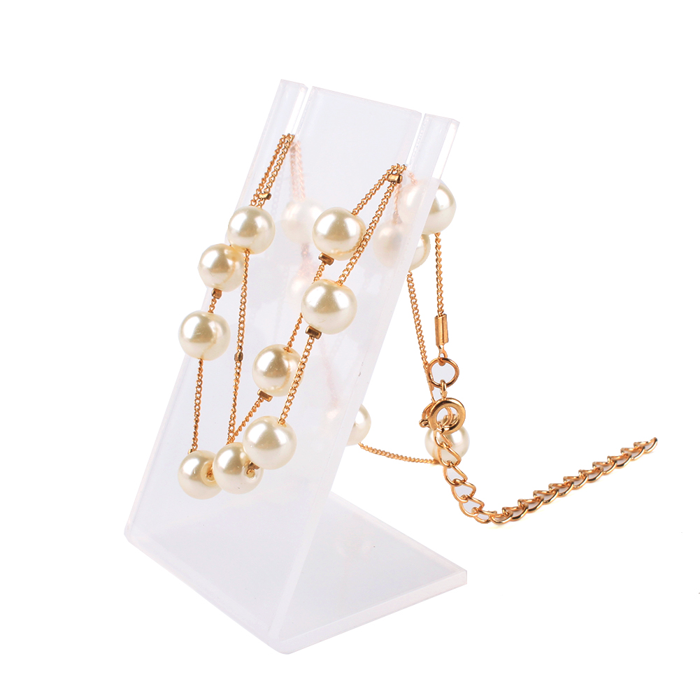Hot Clear Necklace Pendant Earring Display Stand Rack Accessories Jewelry Holder