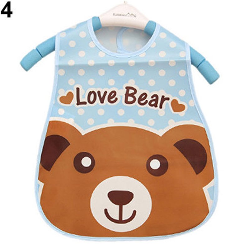 Waterproof Cartoon Pattern Baby Boy Girl Kids Bibs Saliva Feeding Towel