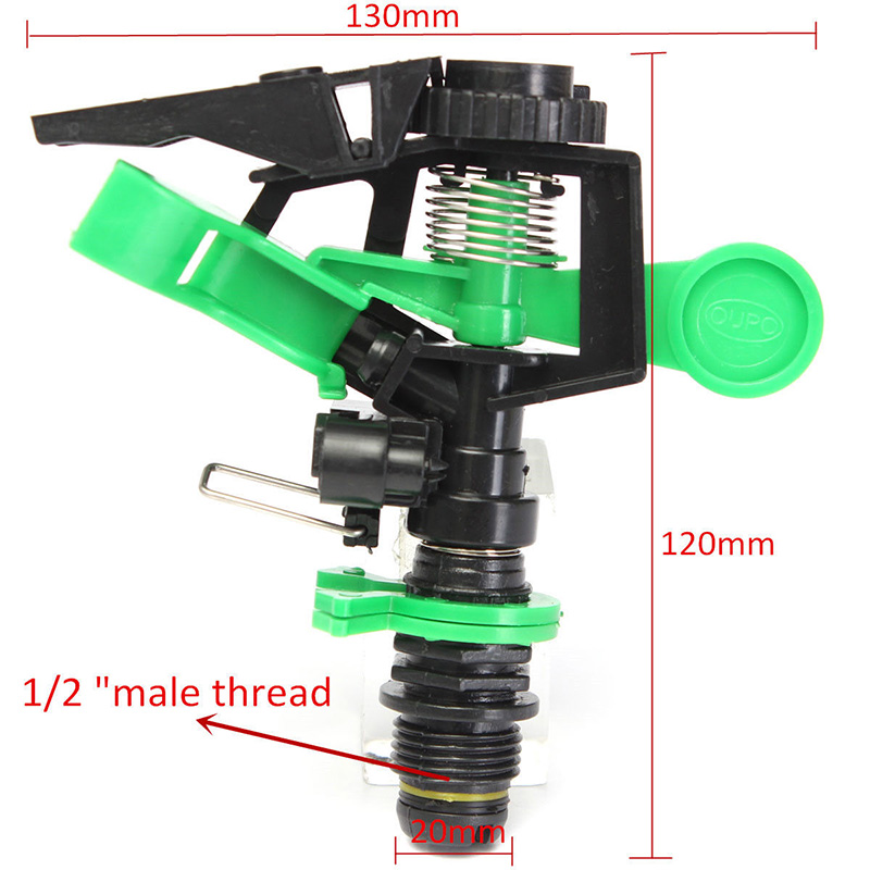 Sprinklers For Tripod Impulse Pulsating Telescopic Watering Grass Lawn Garden