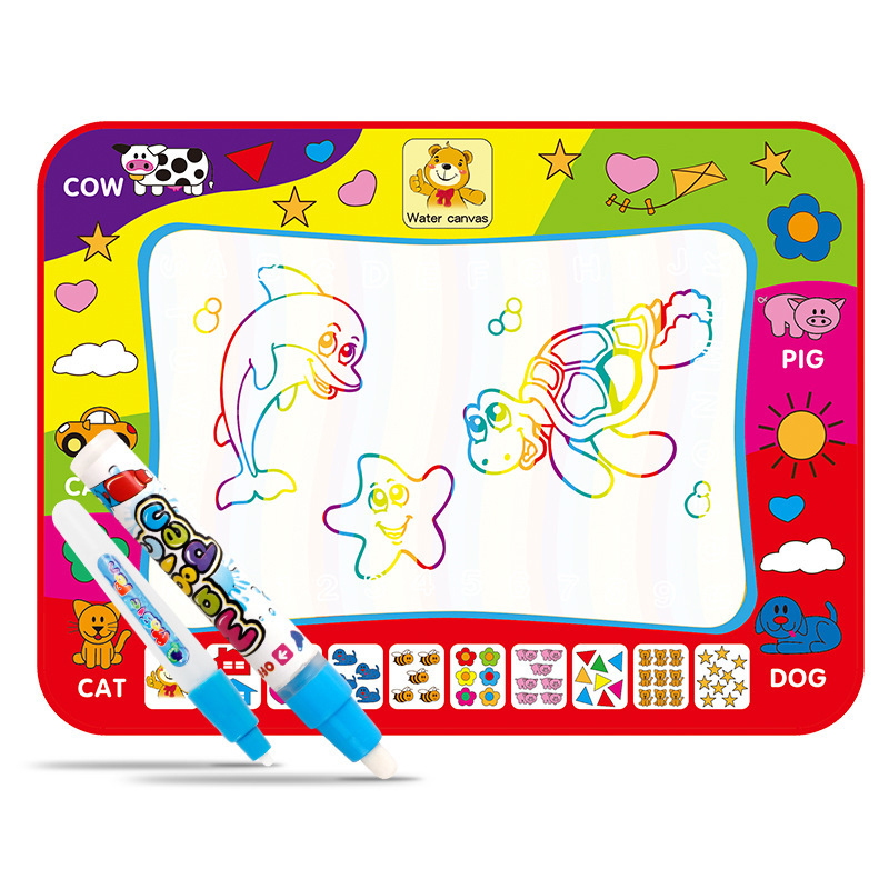 Children Drawing Water Pen Painting Magic Doodle Mat Kids Christmas Gift 80*60CM