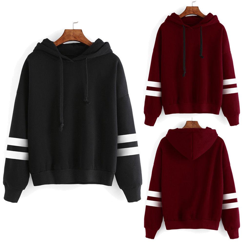 Fashion Womens Hoodie Sweatshirt Jumper Hooded Pullover Tops Blouse Long Sleeve Coat