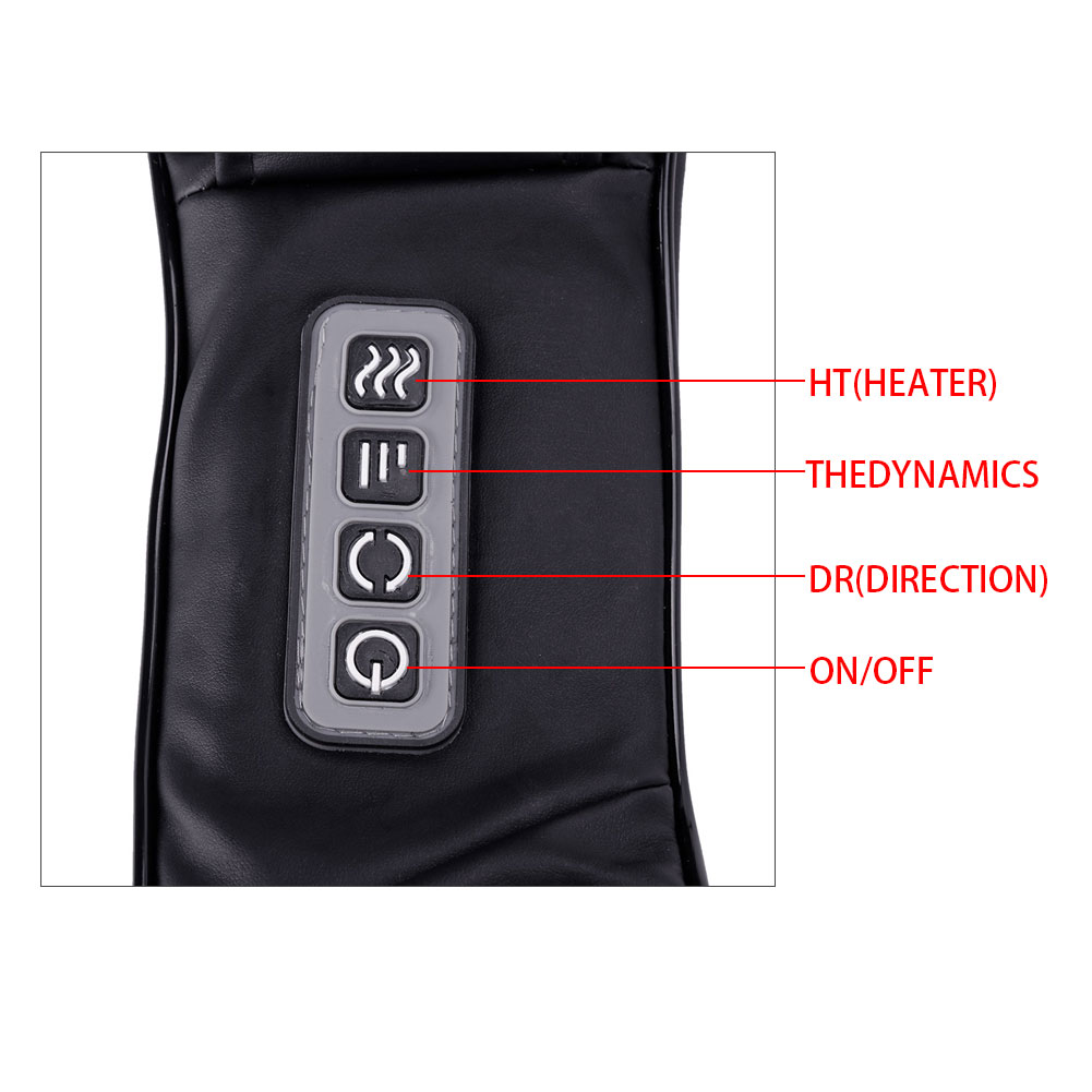 4 Model Black Electric Heated Shiatsu Kneading Massager Pillow For Waist Back Neck Leg Foot Shoulder Full Body Home and Car Use
