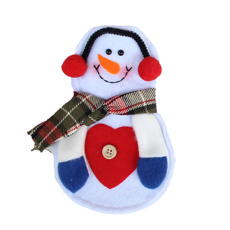 2pcs Christmas Snowman And Decorative Cutlery Home Gift Bags Decorations Table Sets